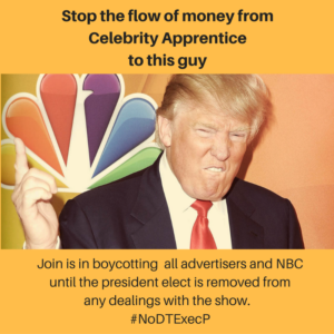 Stop the flow of money from Celebrity Apprentice to this guy